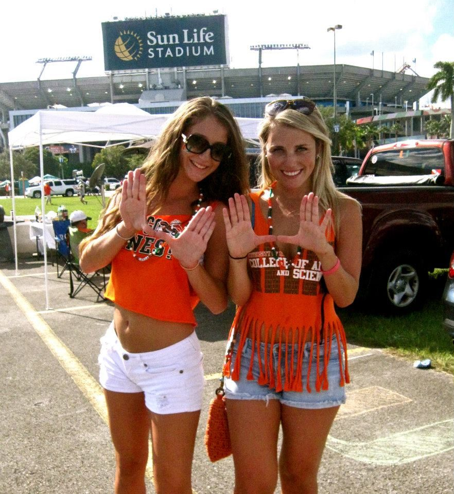 Welcome University Of Miami Delta Gamma Football Outfits Miami Hurricanes Gameday Outfit