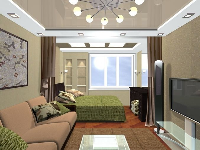 интерьер гостиной комнаты 18 кв м фото
