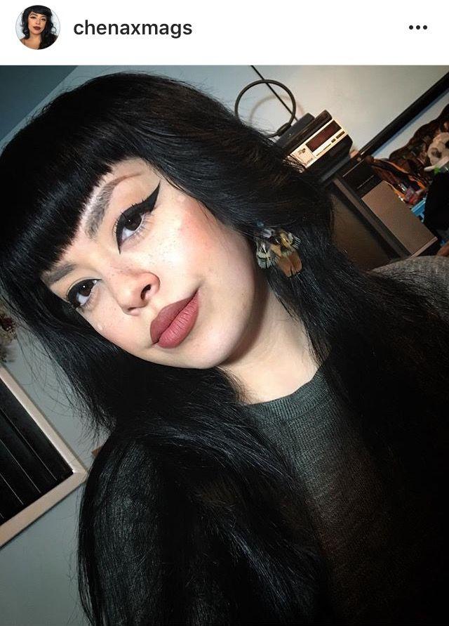 Big cat eye Chenaxmags makeup