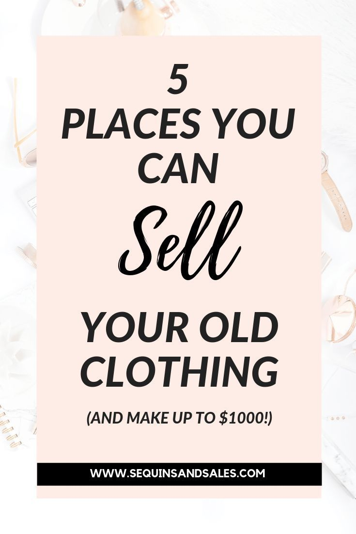 5 Great Apps to Sell Your Old Clothing Things to sell