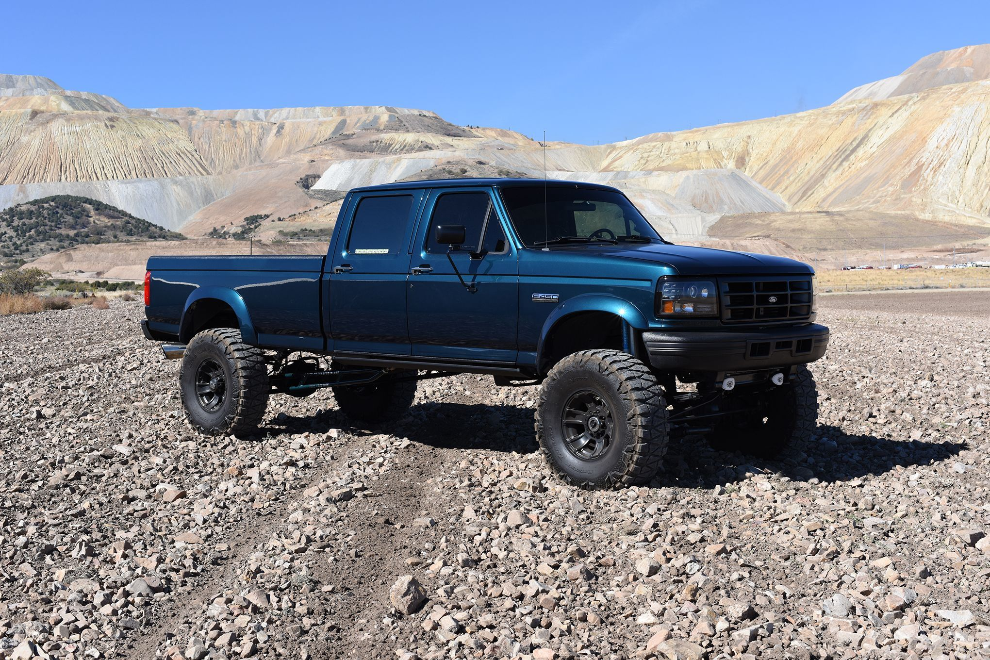 A crew cab longbed 7 3l obs 1997 ford f 350 hot rod