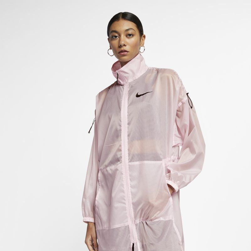 usted está Experto cuota de matrícula  Nike Sportswear Swoosh Women's Woven Jacket - Pink | Lightweight parka, Nike  sportswear, Sportswear