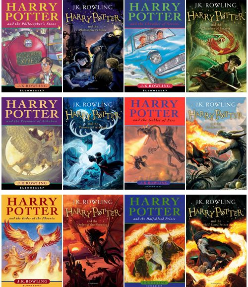 Old And New Book Covers For The Harry Potter Series Harry Potter Miniatures Harry Potter Book Covers Printable Harry Potter Book Covers