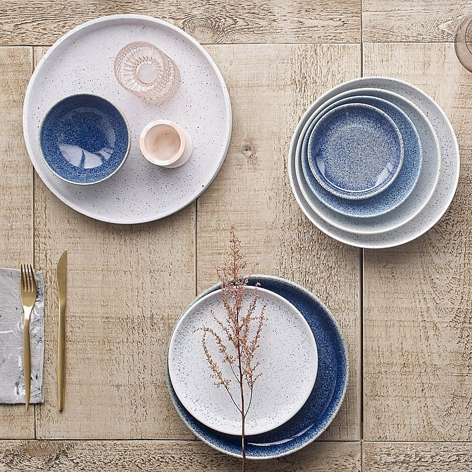 Denby Studio Blue Salad Plate In Chalk Bed Bath And Beyond Canada In 2021 Blue Dinnerware Studio Blue Denby