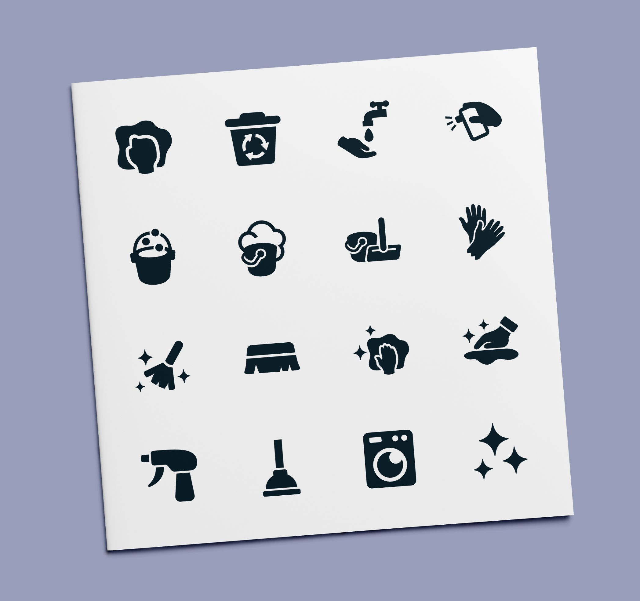 'Washing & Cleaning Glyph' by Minh Do Cleaning icons