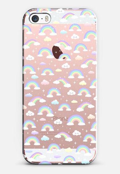 buy online 0f444 1c1ff Classic Snap iPhone SE Case - Pastel rainbow where the unicorns live ...