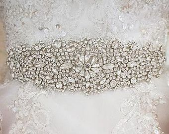 Luxury Crystal Bridal Sash,Wedding Dress Sash Belt,  Rhinestone Sash,  Rhinestone Bridal Bridesmaid Sash Belt, Wedding dress sash
