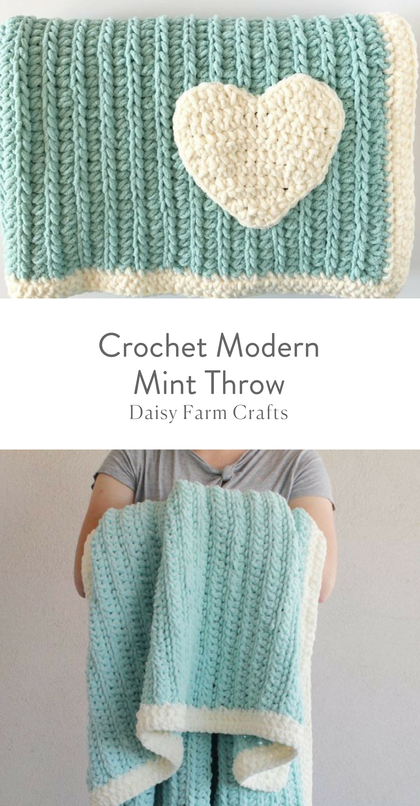 Free Pattern - Crochet Modern Mint Throw | Knit/Crochet | Pinterest