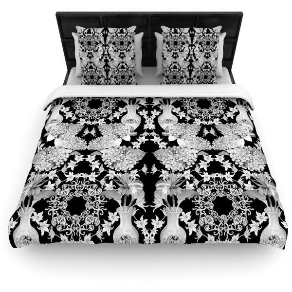 """Versailles Black"" Woven Comforter Duvet Cover Size: King ($220) ❤ liked on Polyvore"