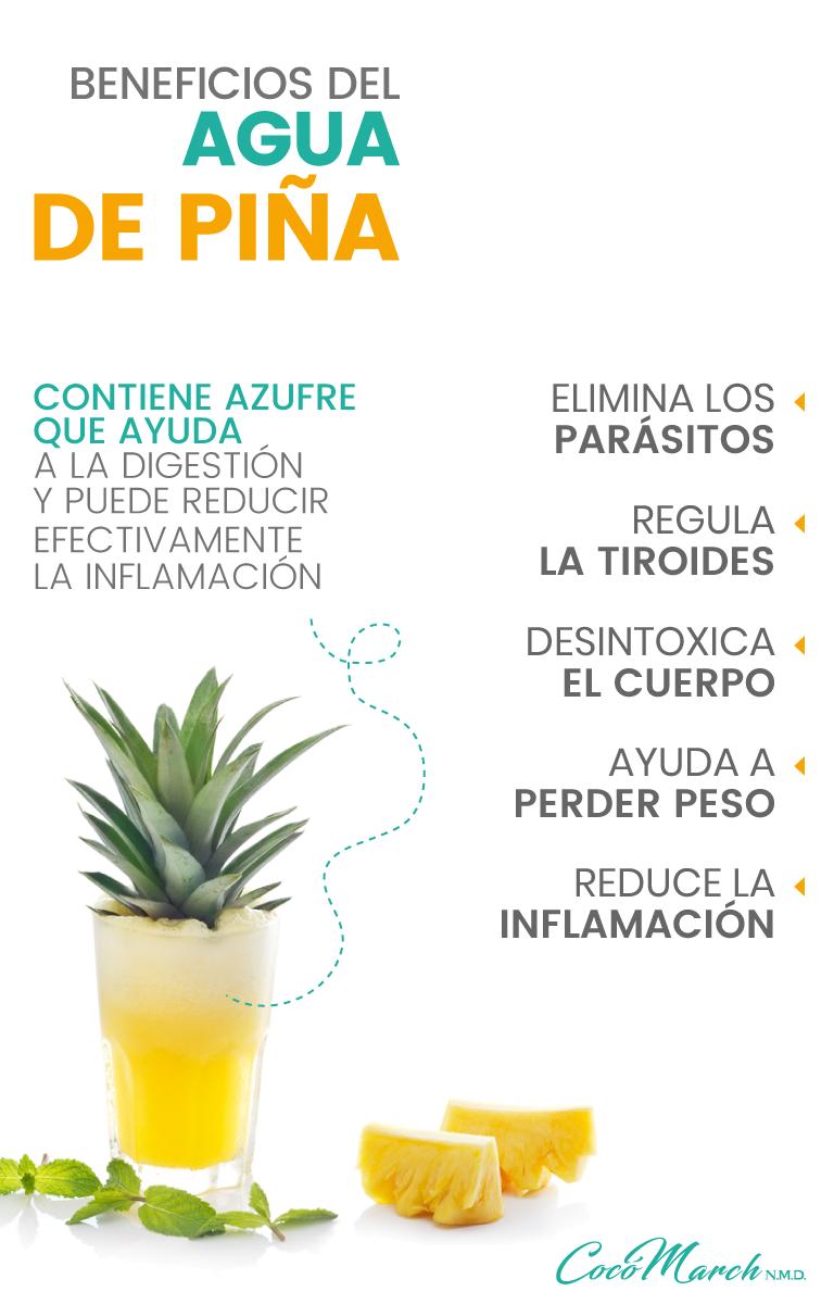 ▷ 11 Maravillosos Beneficios Del Agua De Piña