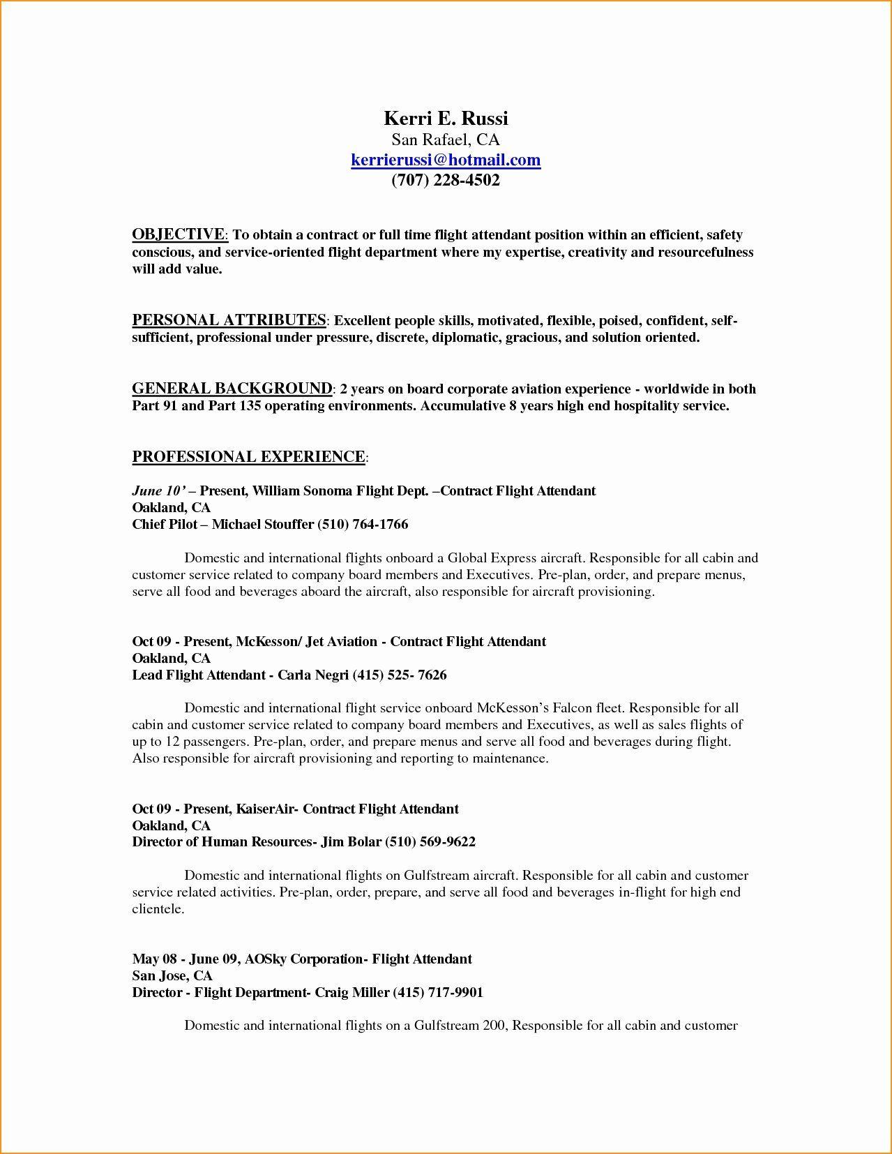 Flight Attendant Resume No Experience Luxury Flight Attendant Sample Resume No Prior Experience Flight Attendant Resume Resume No Experience Lettering