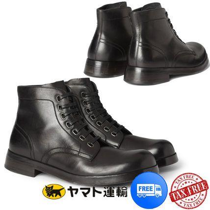 ★ブラックレザー ダービーシューズ【Dolce & Gabbana】