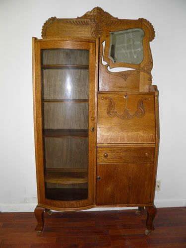 Pleasant Antique Oak Drop Front Desk Antique Mahogany Secretary Home Interior And Landscaping Oversignezvosmurscom