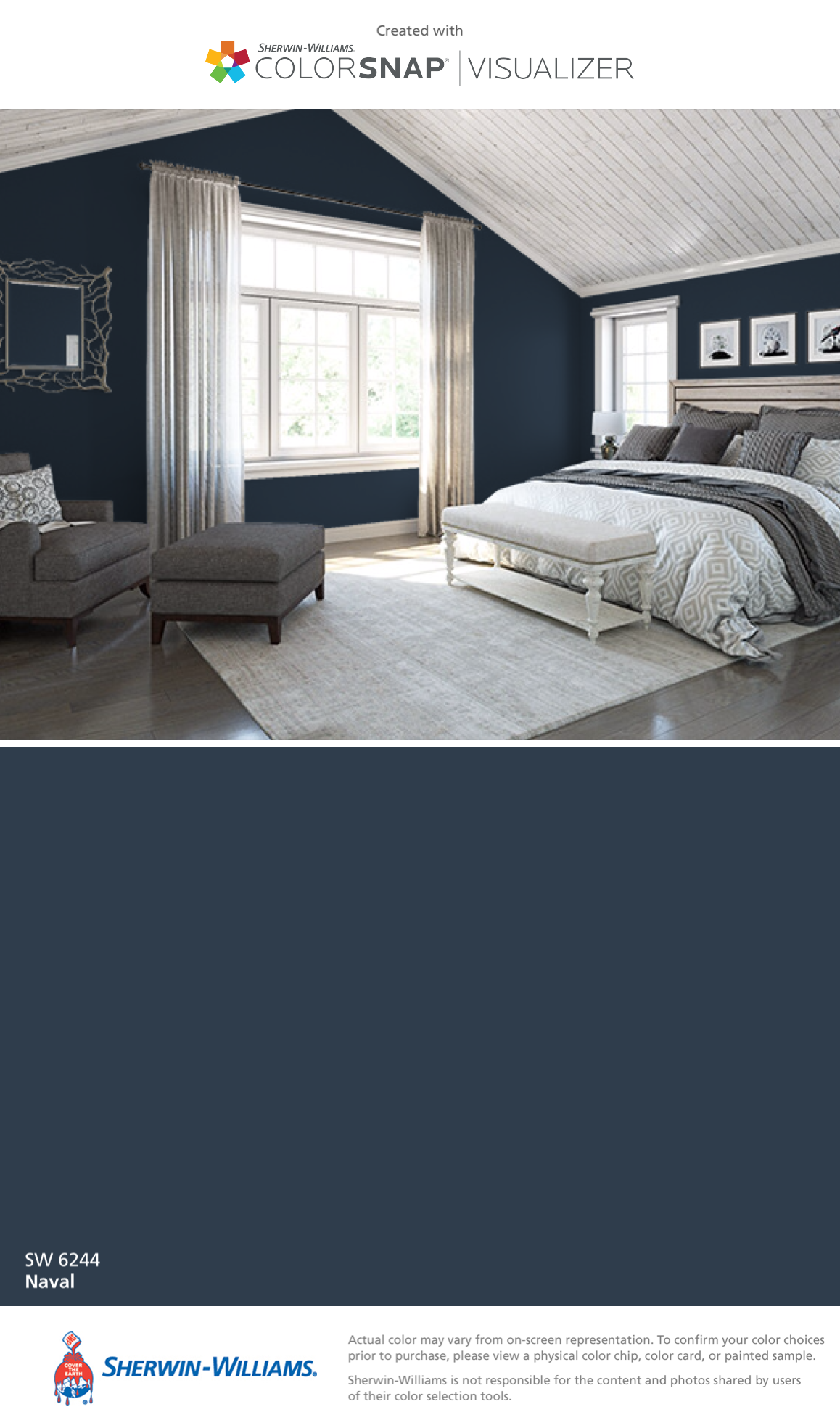 I Found This Color With Colorsnap Visualizer For Iphone By Sherwin Williams Naval Sw 6244
