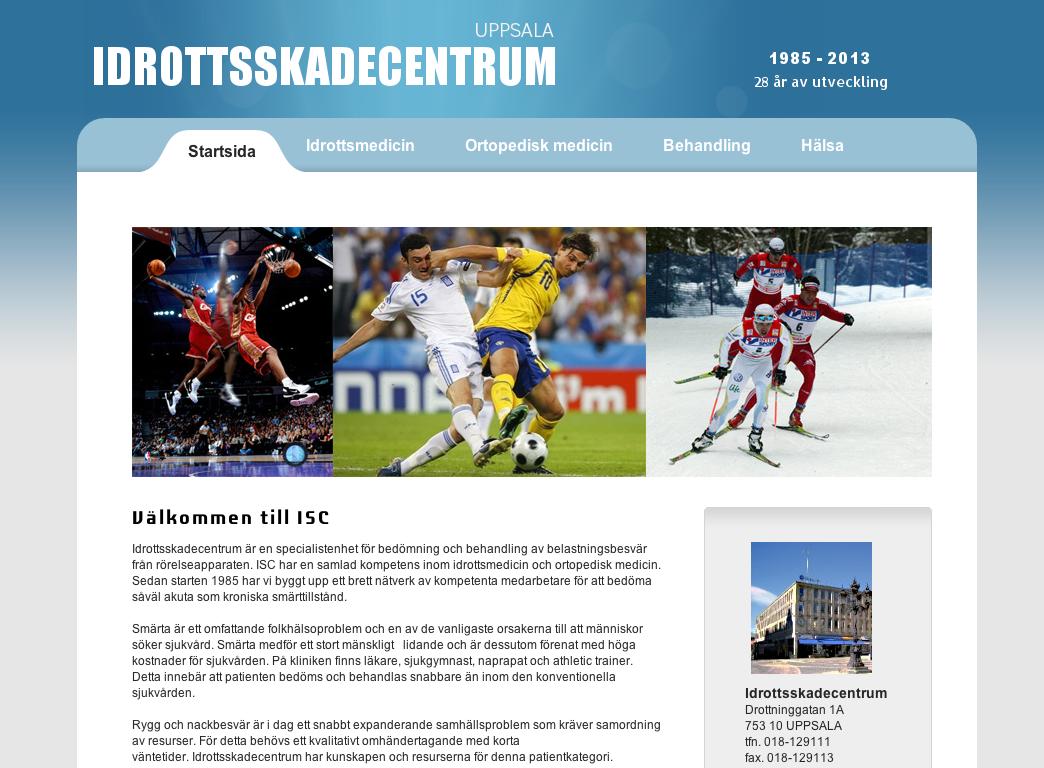 Från http://www.idrottsskadecentrum-ua.se/  Idrottsskadecentrum