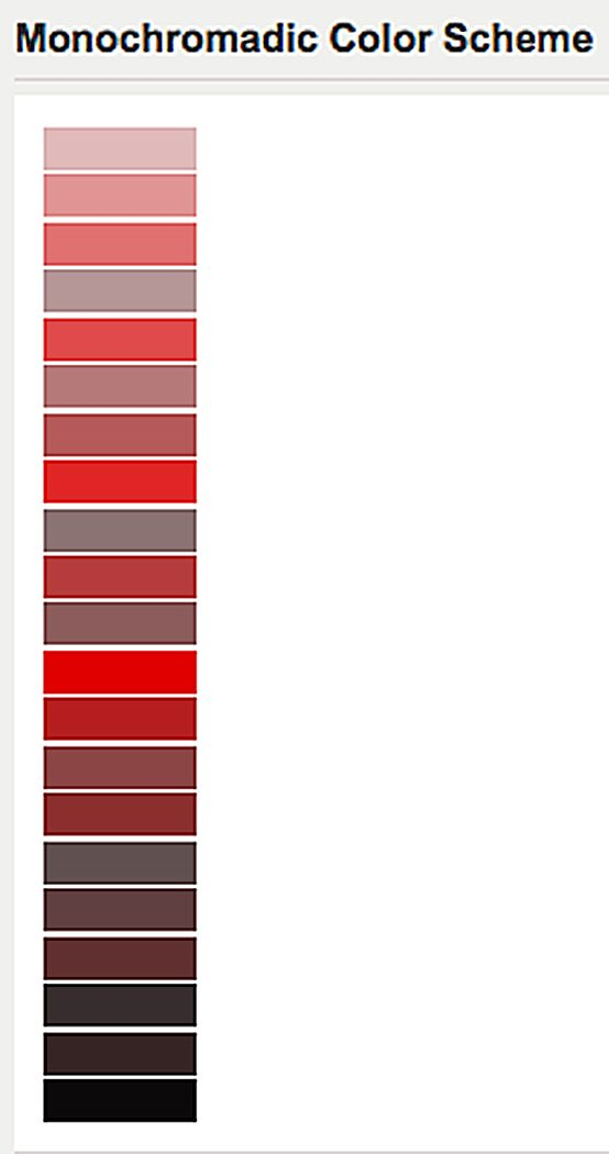 Dark Red Monochromatic Color Scheme