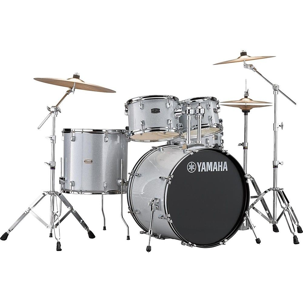 Yamaha Rydeen 5-Piece Shell Pack with 22 in. Bass Drum Silver Glitter