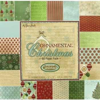 12 X 12 Ornamental Christmas Premium Cardstock Scrapbook Paper