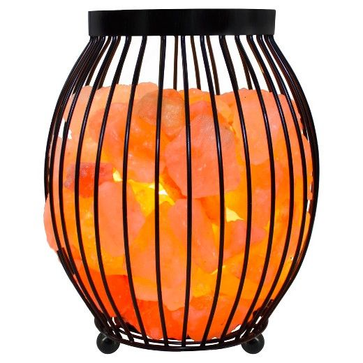 Salt Lamp Target Simple Himalayan Glow  Natural Salt Lamp Oval Basket Orange  Himalayan Decorating Inspiration