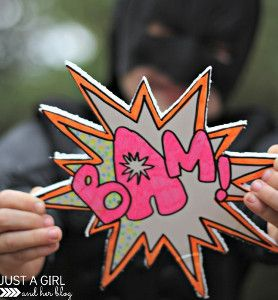 5 Superhero Craft Ideas and Comic Book Crafts #superherocrafts