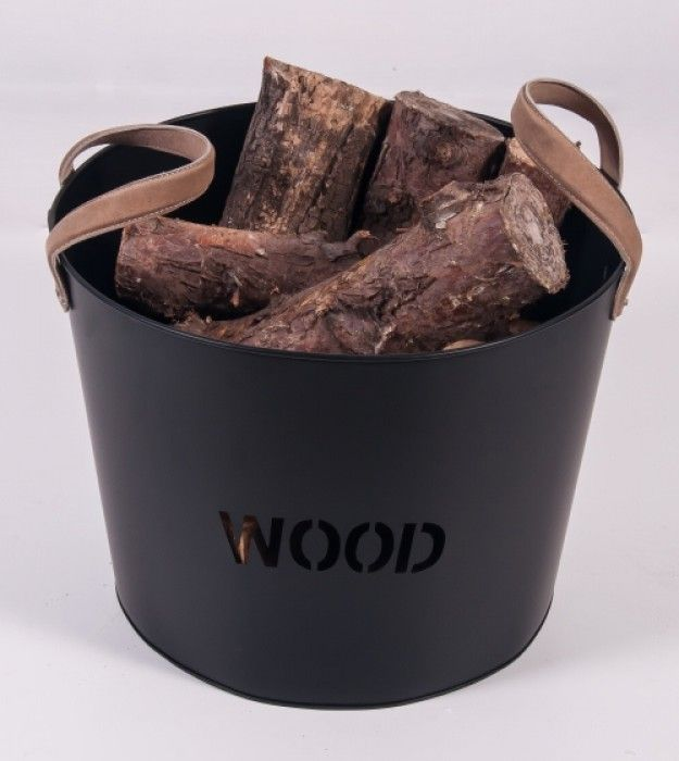 Brettington Powder Coated Iron Wood Basket Log Baskets Log