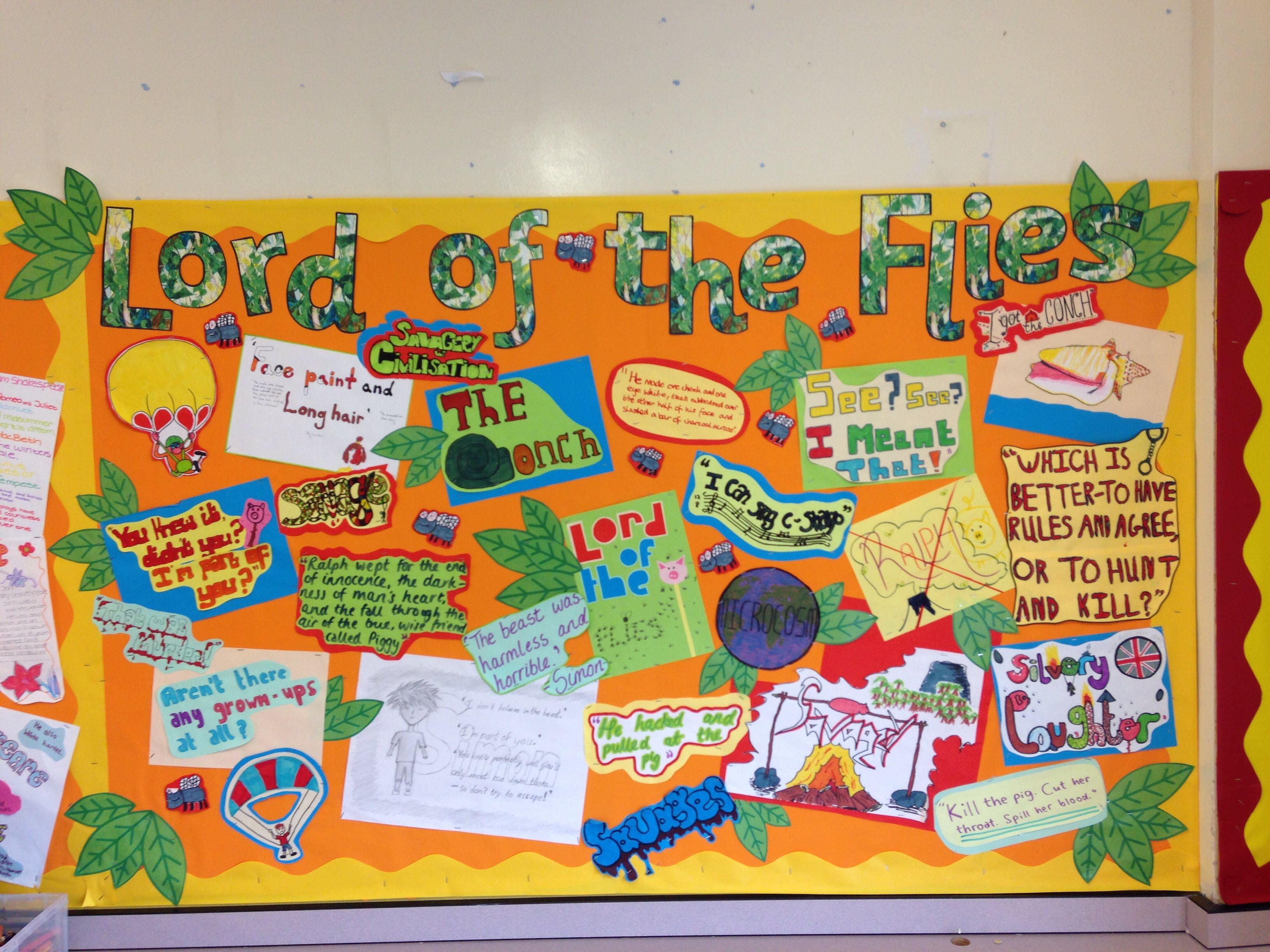 Classroom Display Ideas Ks4 ~ Bulletin board classroom display english lord of the