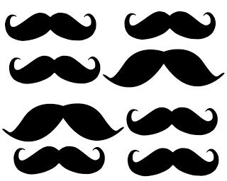 """New mustach party supplies Amscan Birthday Cake Candles 5 Pieces Mustaches 2/"""""""