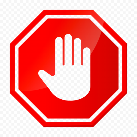Hd Vector Outline Hand Stop Sign On Road Red Stop Png Stop Sign Png Outline