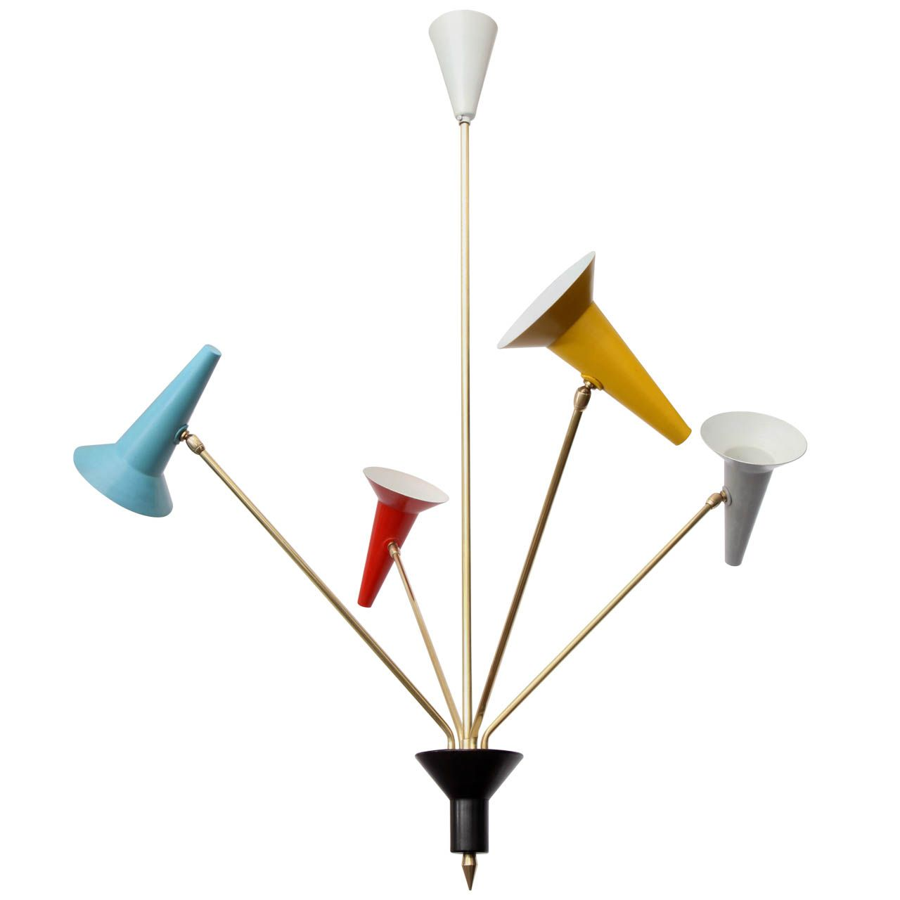 A 1950's Italian Articulated Ceiling Fixture signed Lumen   From a unique collection of antique and modern chandeliers and pendants  at http://www.1stdibs.com/furniture/lighting/chandeliers-pendant-lights/