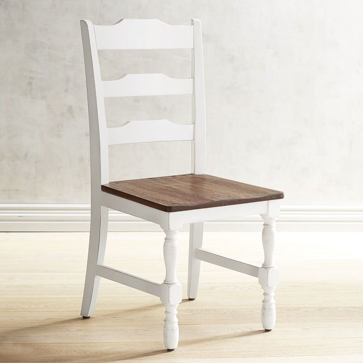 Pier 1 Imports Heartland Distressed White Dining Chair  White Classy White Kitchen Chairs Inspiration