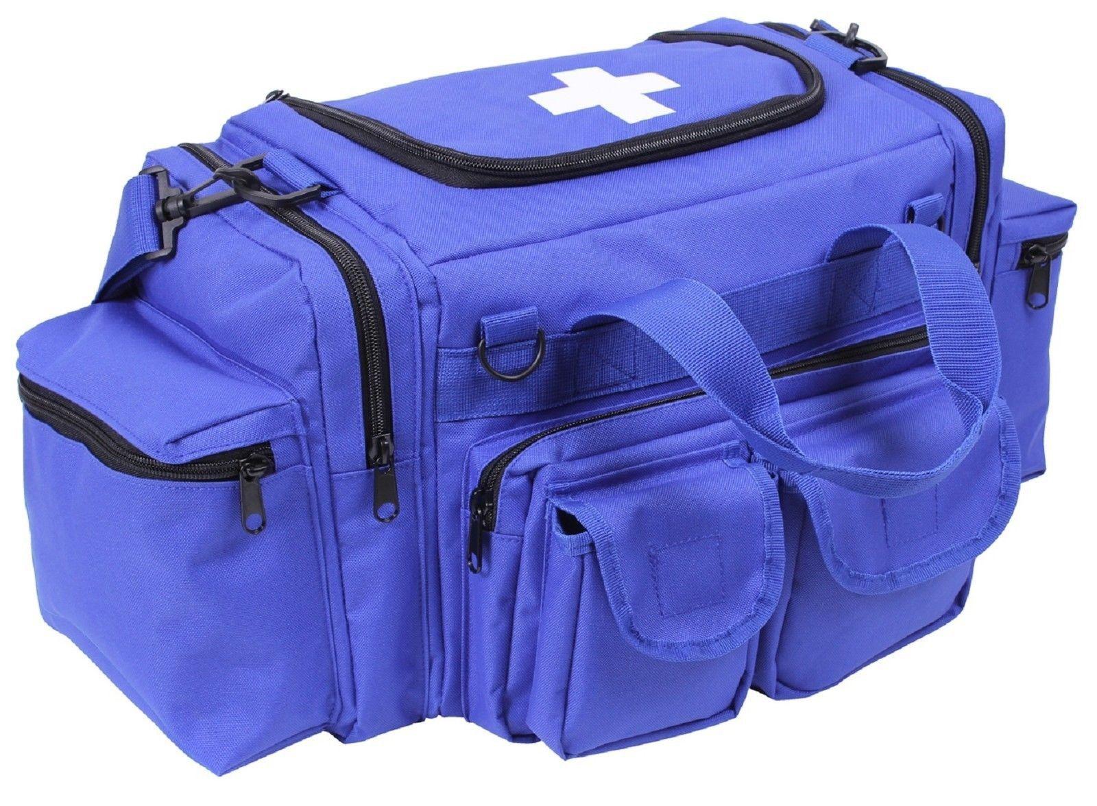 Blue Emt Field Bag W Cross Rothco 22 6 Pocket Medic