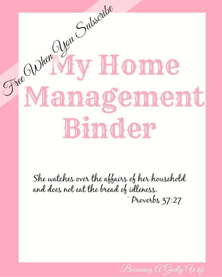 Home Management Binder Freebie