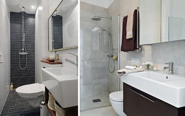 Baños Alargados Y Estrechos Baño Estrecho Diseño Baños Pequeños Tipos De Baños