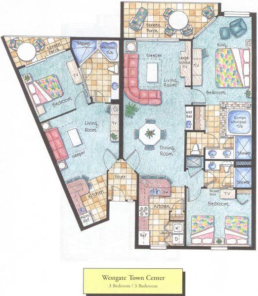Westgate Lakes Resort Spa Floor Plans