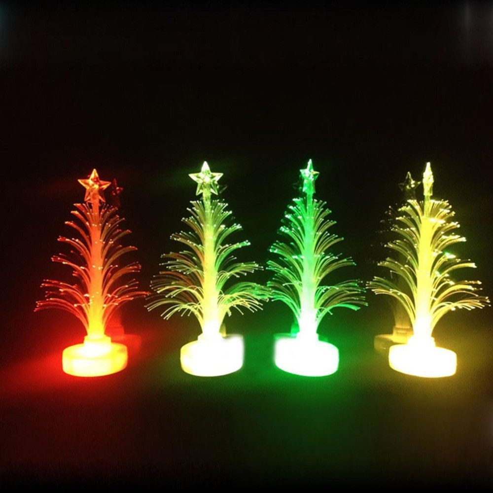 1 pcs Auto Color Changing LED Christmas Tree Lamp Nigh Light Indoor ...