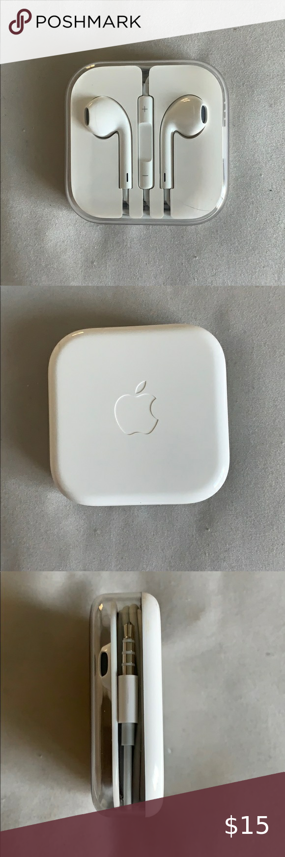 Nwot Apple Earphones Earpods Nwot Apple Earpods With Headphone Plug Remote And Mic Built In Can Use Headphone Jack Adapter For Apple Earphones Earphone Apple