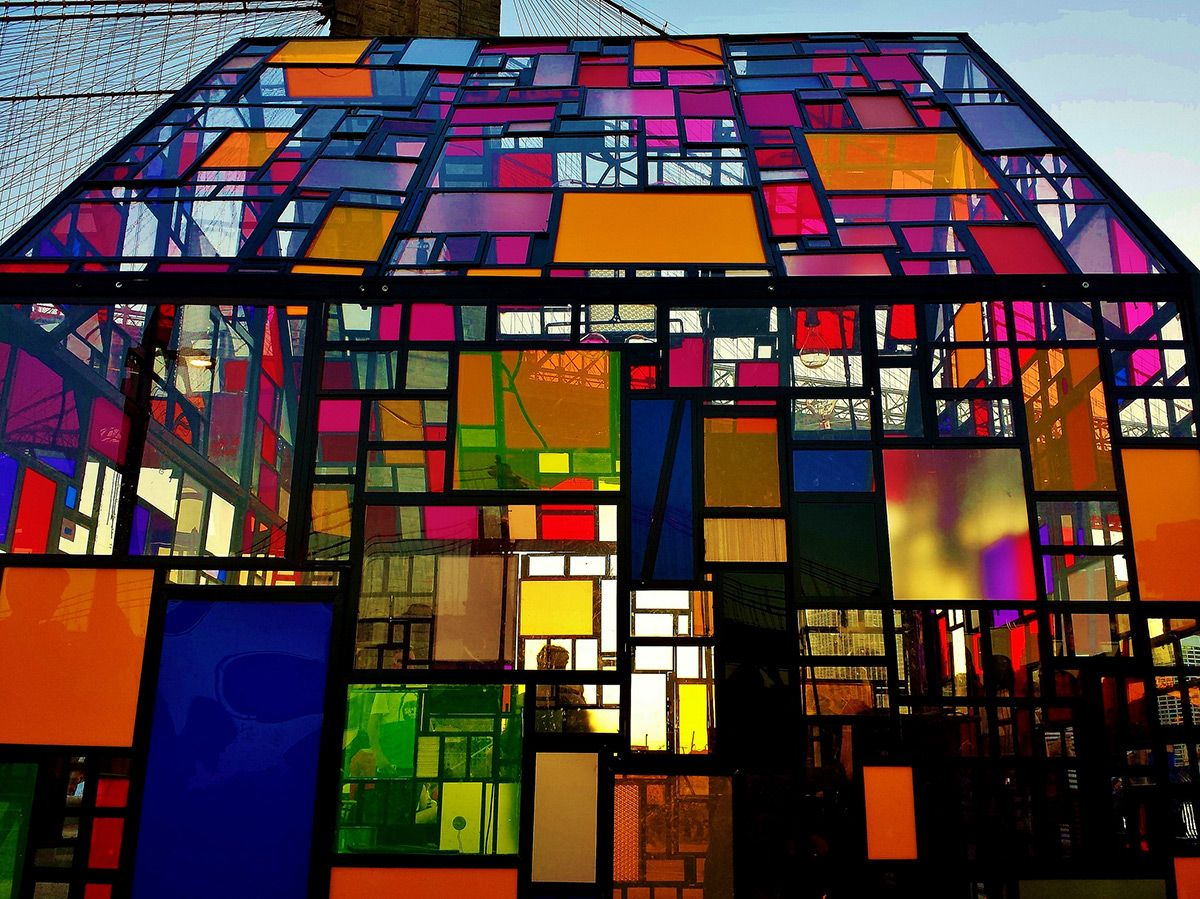 Tom Fruins Stained Glass House Installed At Brooklyn Bridge Park Nice Ideas