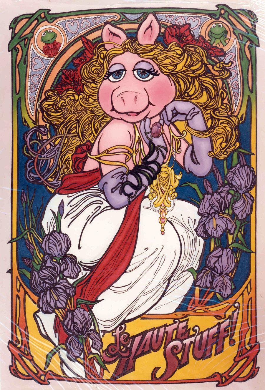 """""""Who moi?"""" Miss Piggy Nouveau by Valedelven.deviantart.com on @deviantART"""