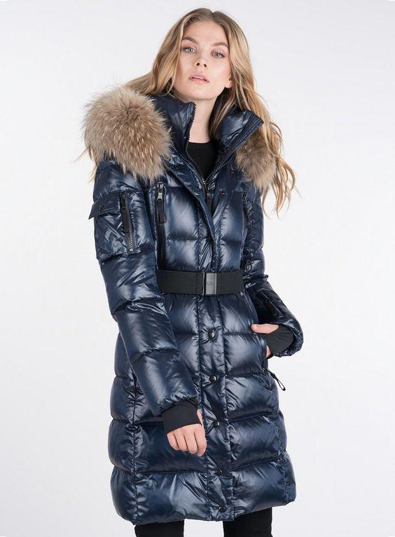 Manteau doudoune femme bleu