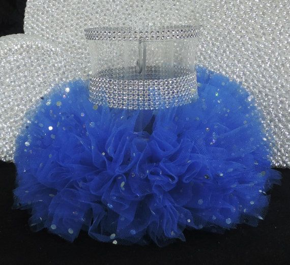 Royal Blue Tulle Hurricane Tealight Wedding by LuxxCouture on Etsy