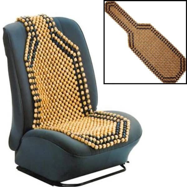 Beaded Wooden Front Massage Seat Chair Cover Cushion Car Office Home ...