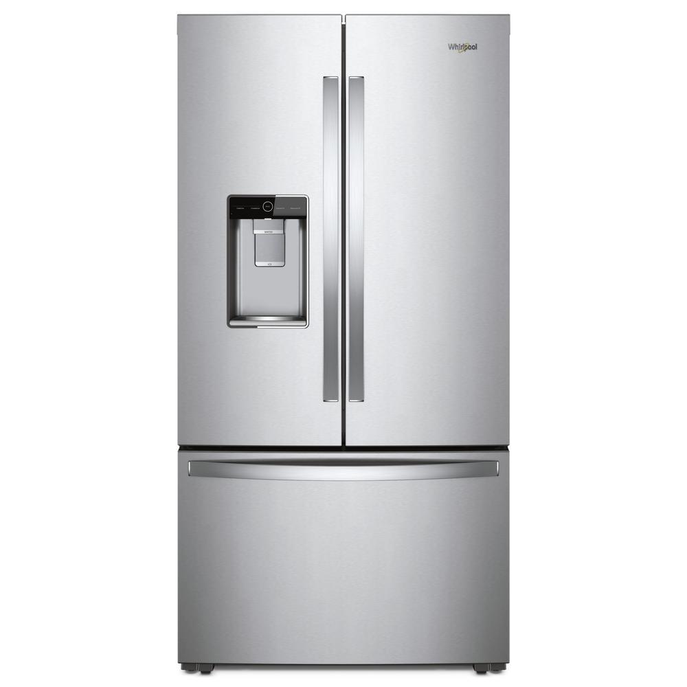 Whirlpool 36 In W 24 Cu Ft French Door Refrigerator In