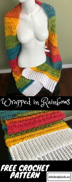 Use This Free Crochet Pattern To Make Your Own Wrapped In Rainbows
