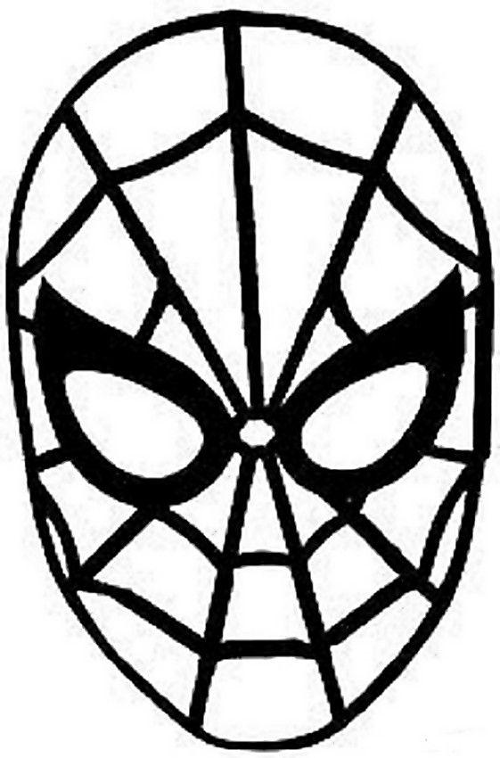 Maschera Di Spiderman Da Colorare.Immagine Maschera Di Spiderman Maschera Carnevale Colori