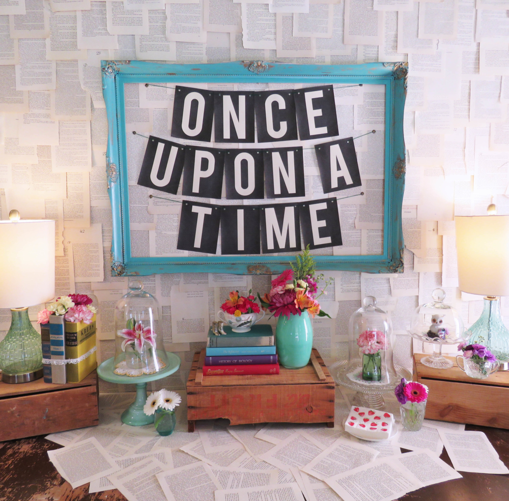 Book Themed Bridal Shower, Book Decor, Book Themed Party