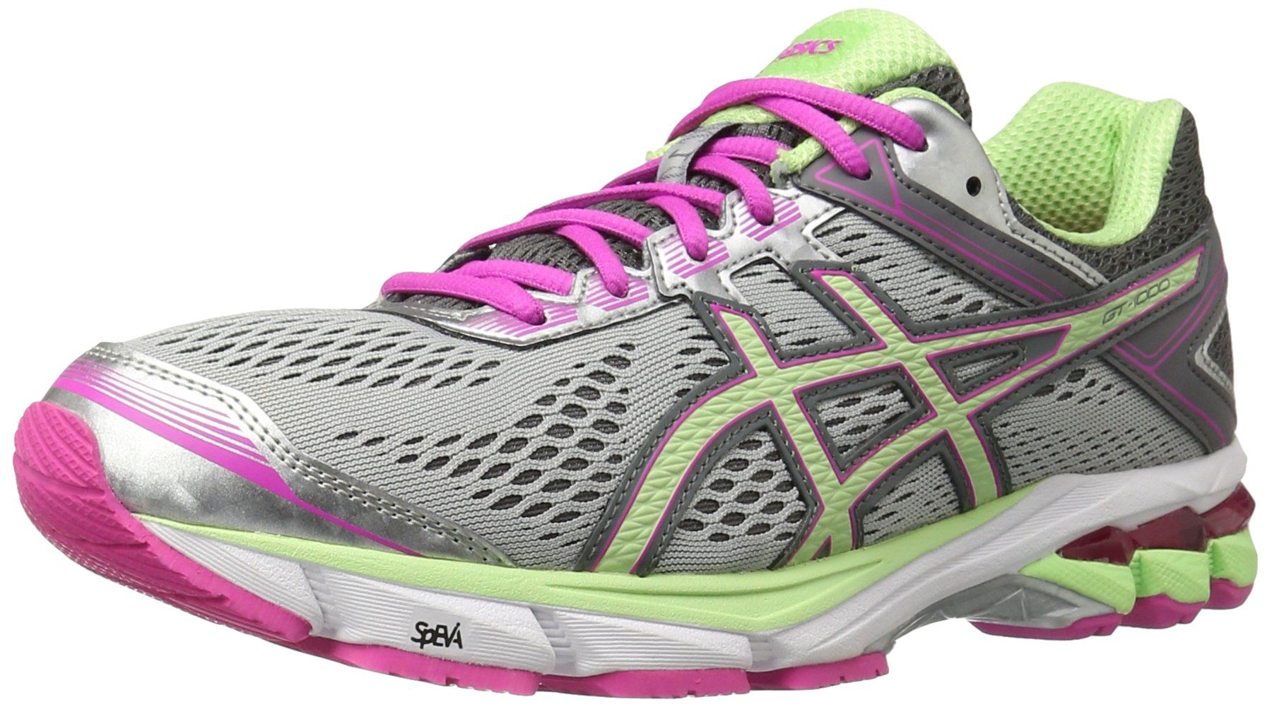 ASICS Women s Gt-1000 4 Running Shoe, Silver Pistachio Pink Glow, 6 ... 555697361f92