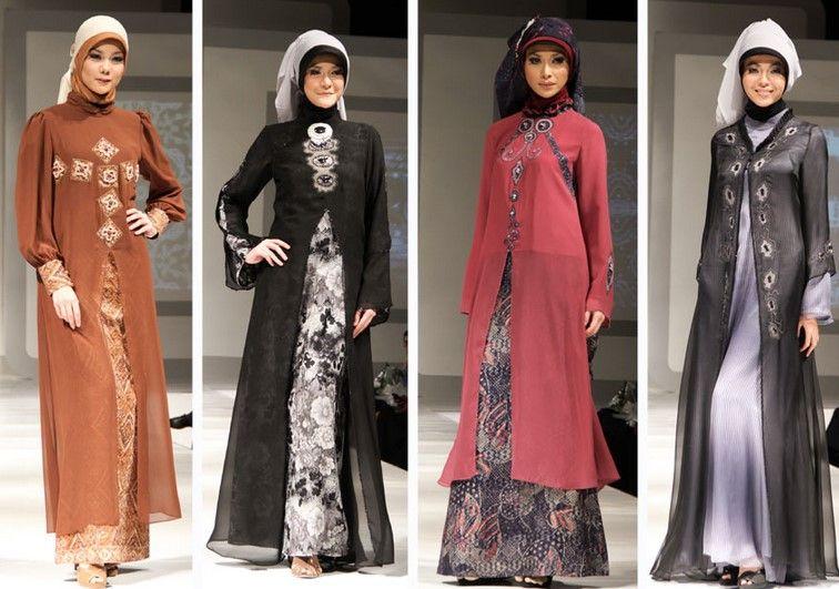 Baju Dan Busana Muslim Modern Terbaru 4 Gamis Pesta Warna Coklat