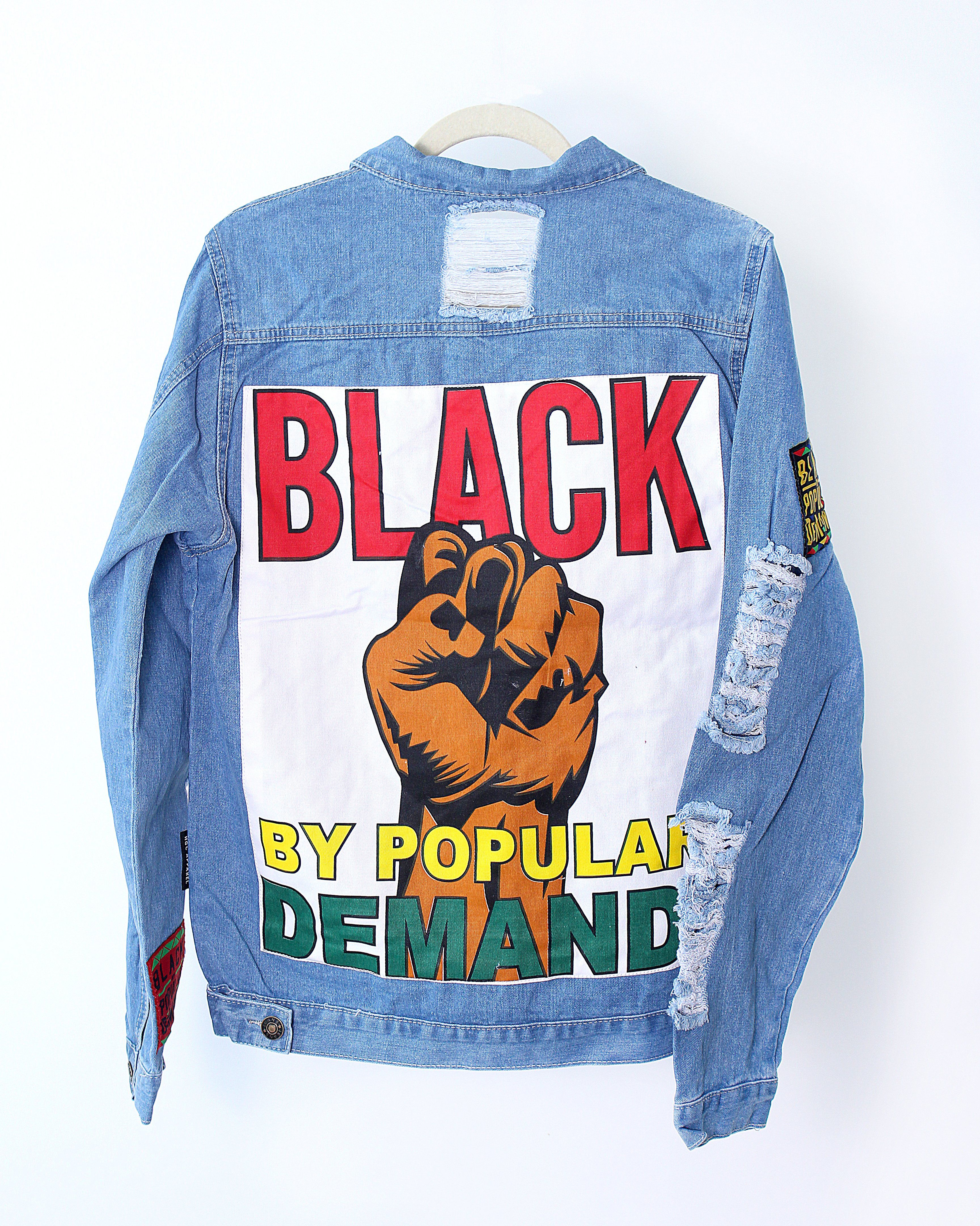 e380c905adb9 BLACK BY POPULAR DEMAND® Unisex Distressed Jean Jacket   Swagga in ...