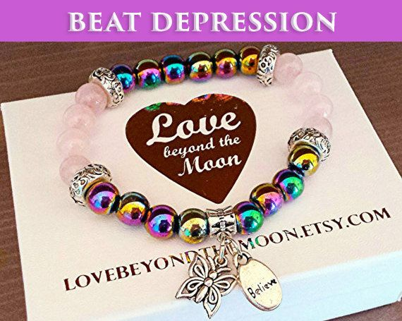 Check out this item in my Etsy shop https://www.etsy.com/uk/listing/169722752/beat-depression-joy-love-bracelet-with