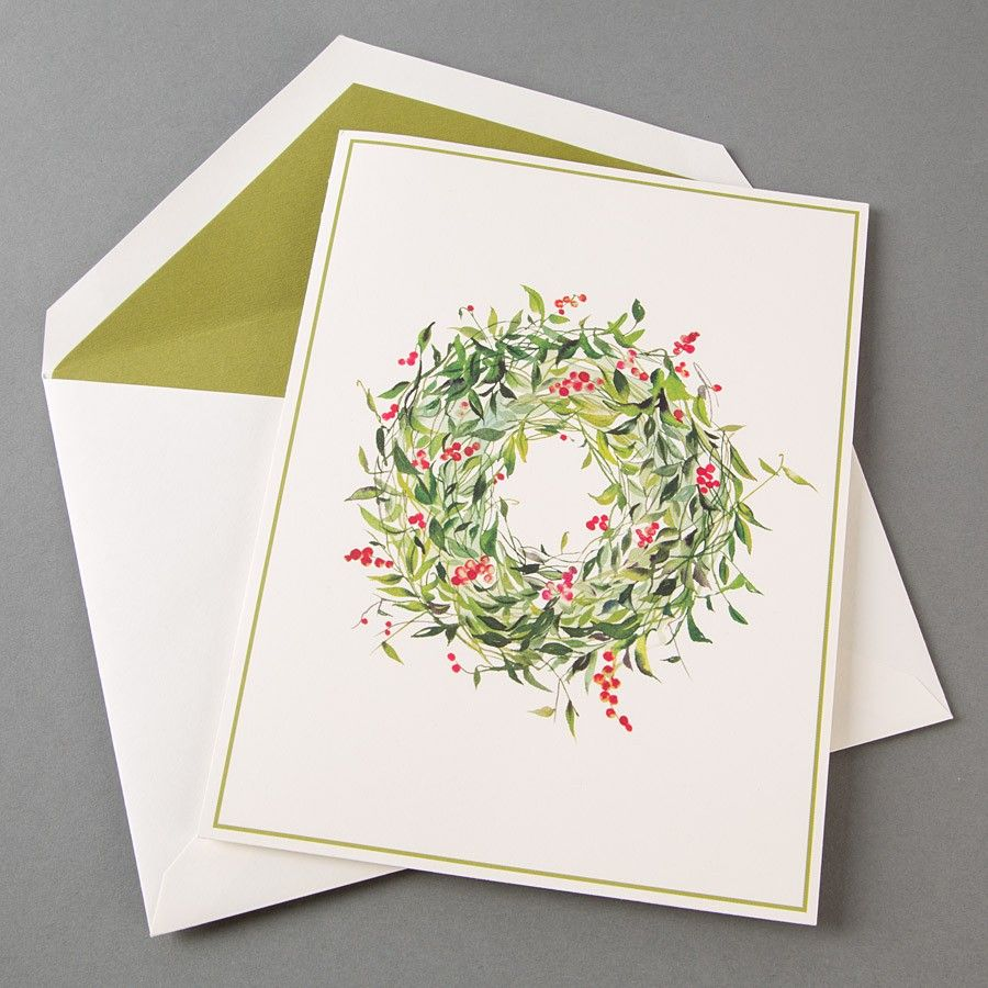Winterberry Wreath Holiday Boxed Cards by William Arthur   Pinterest ...